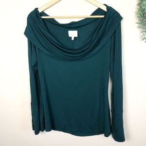 Deletta | Emerald Green Cowl Top